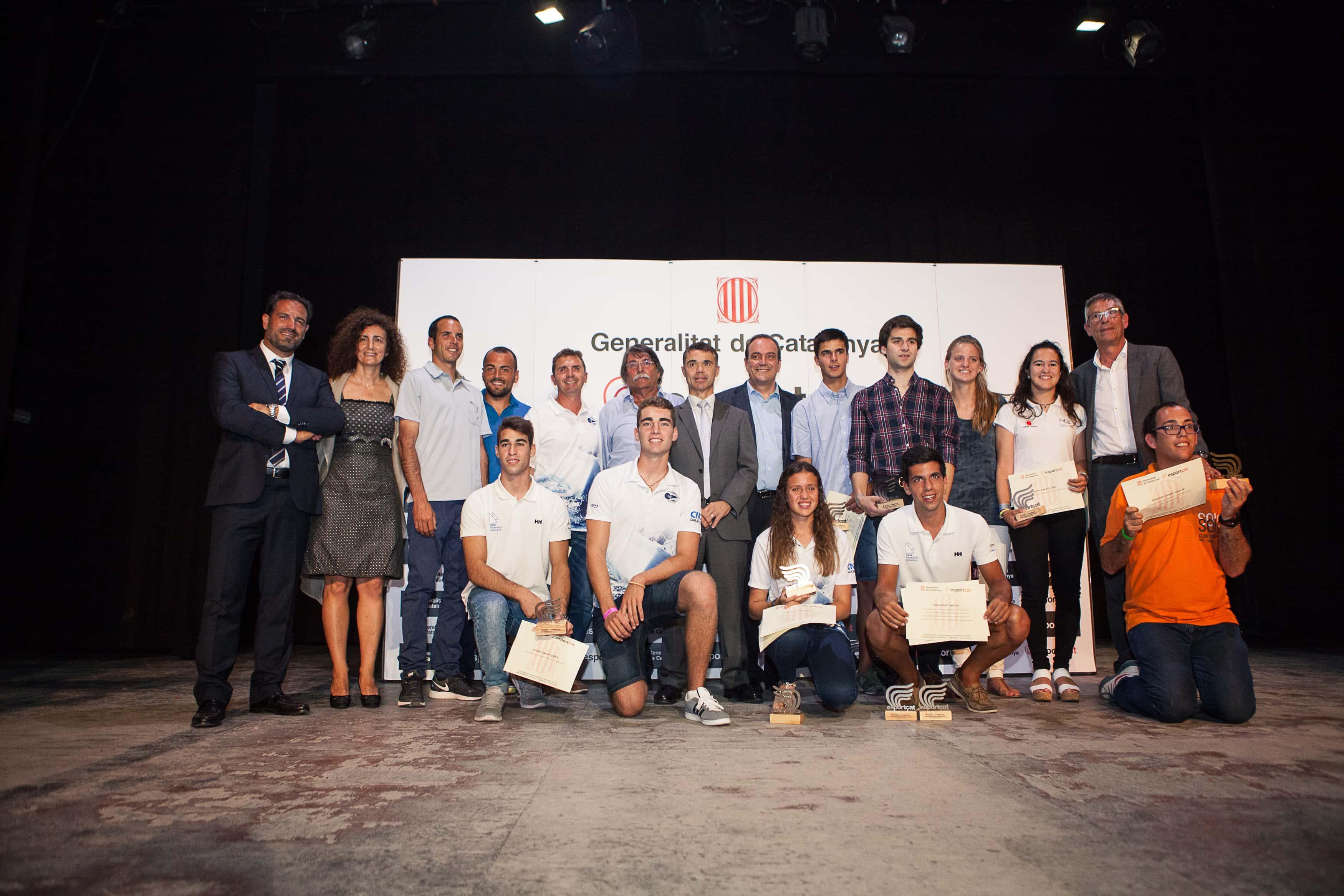 Reconocimientos Deportivos Tarragona 2014 a los regatistas de Club Nàutic Cambrils
