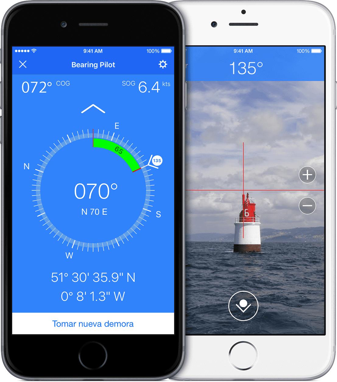 Marinus renueva su compás de marcaciones: Bearing Pilot (iOS)