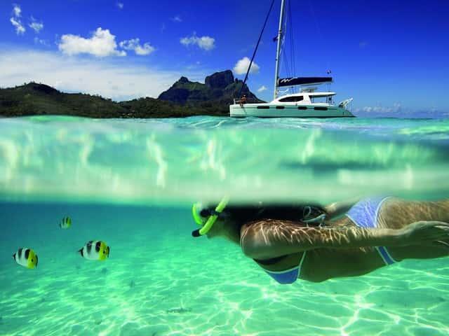 Navegando por Polinesia de isla en isla: desde Raiatea a Huaine y Tahaa