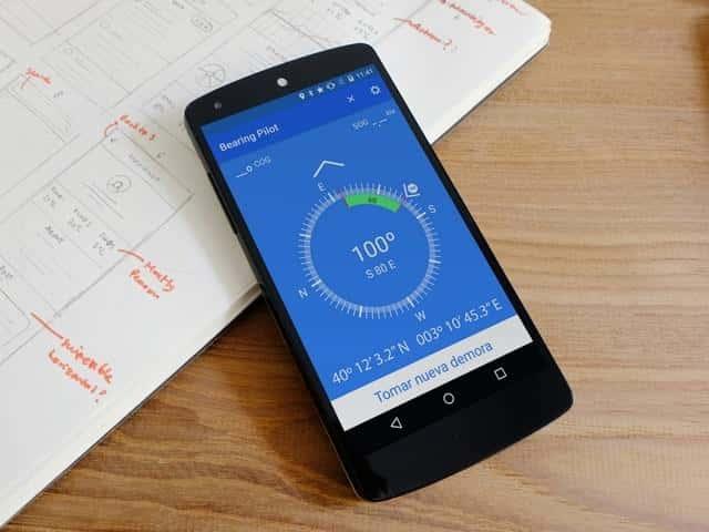 El compás de marcaciones Bearing Pilot de Marinus Apps disponible en versión Android