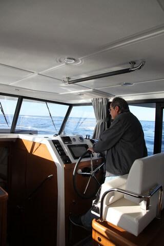 Bénéteau Swift Trawler 35 puesto de gobierno visibilidad