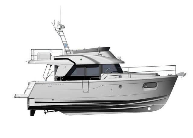 Bénéteau Swift Trawler 35  plano perfil