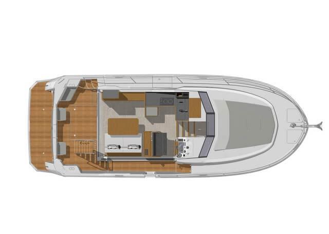 Bénéteau Swift Trawler 35  plano cubierta diseño