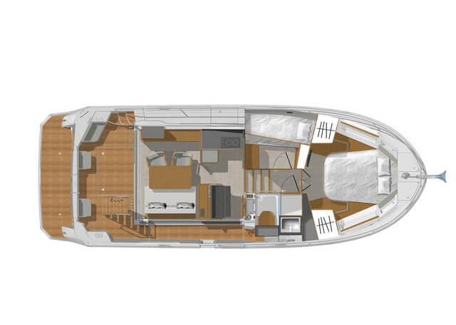 Bénéteau Swift Trawler 35  planos interiores