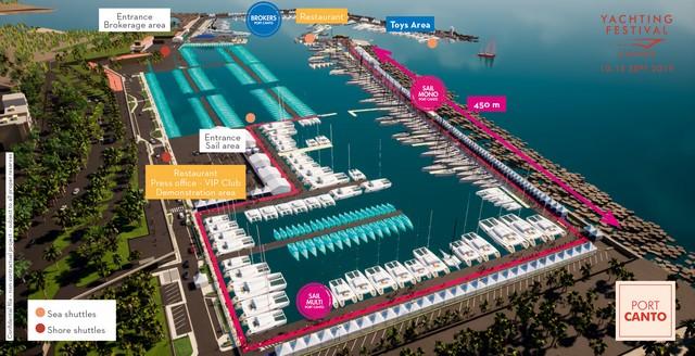 Cannes Yachting Festival, nueva área de vela en Port Canto