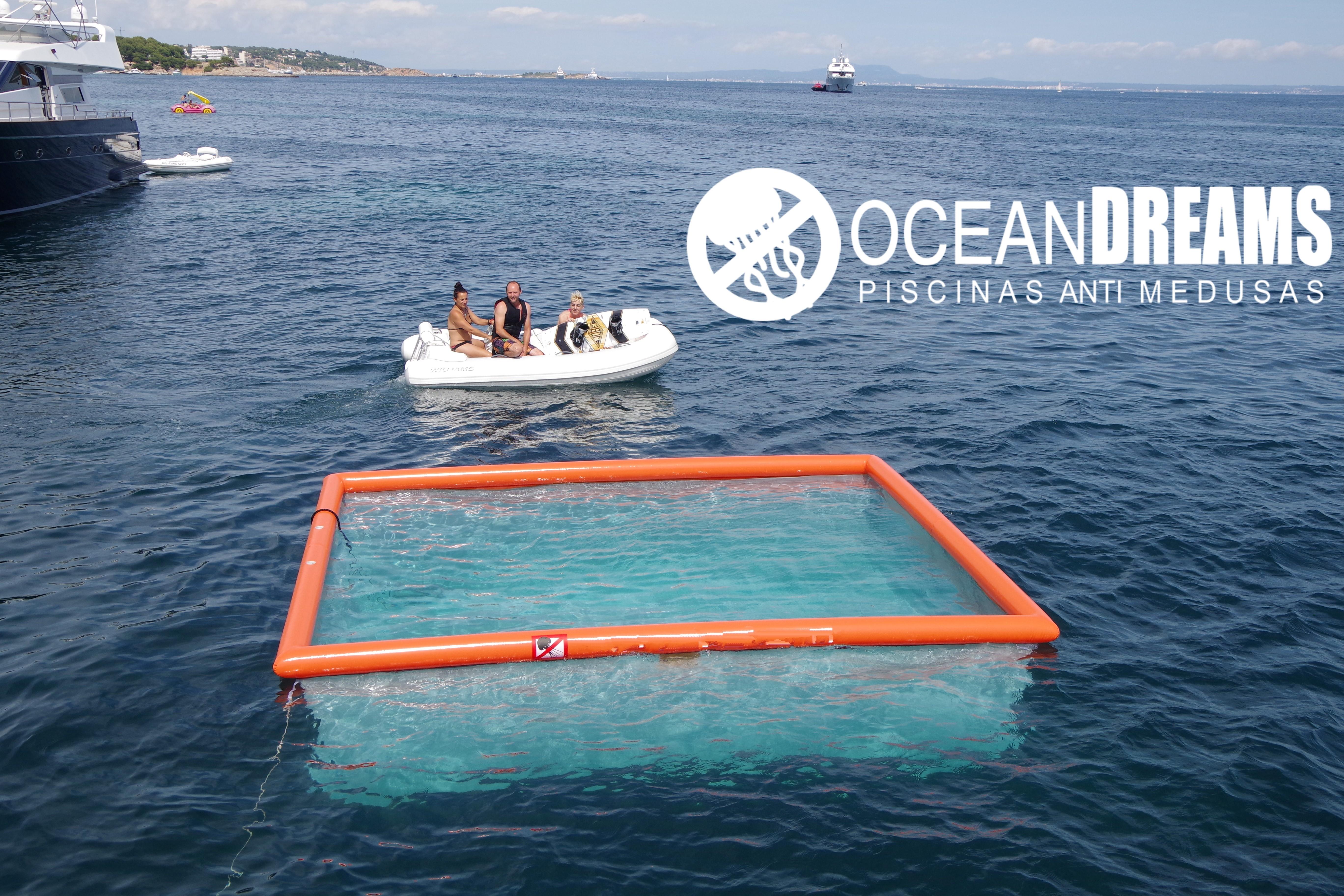 piscina hinchable OceanDreams protege contra las picaduras de las medusas
