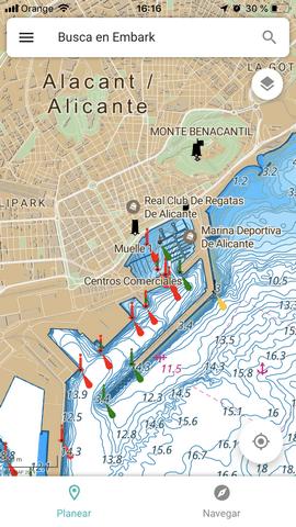 Versión en español de C-MAP Embark, la app gratuita de cartas náuticas de alta precisión