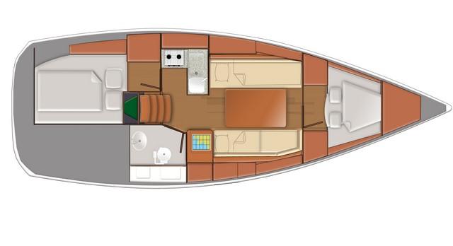 Sun Odyssey 319 planos