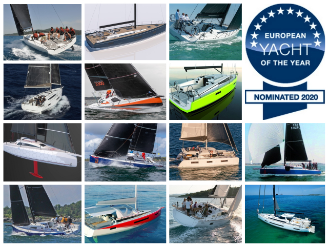 European Yacht of the Year 2020, 20 veleros en liza