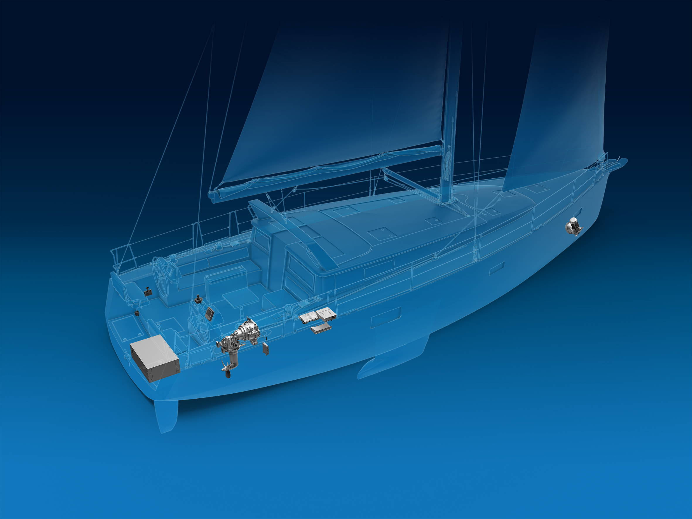 ZF desarrolla un sistema de propulsión totalmente eléctrico para veleros