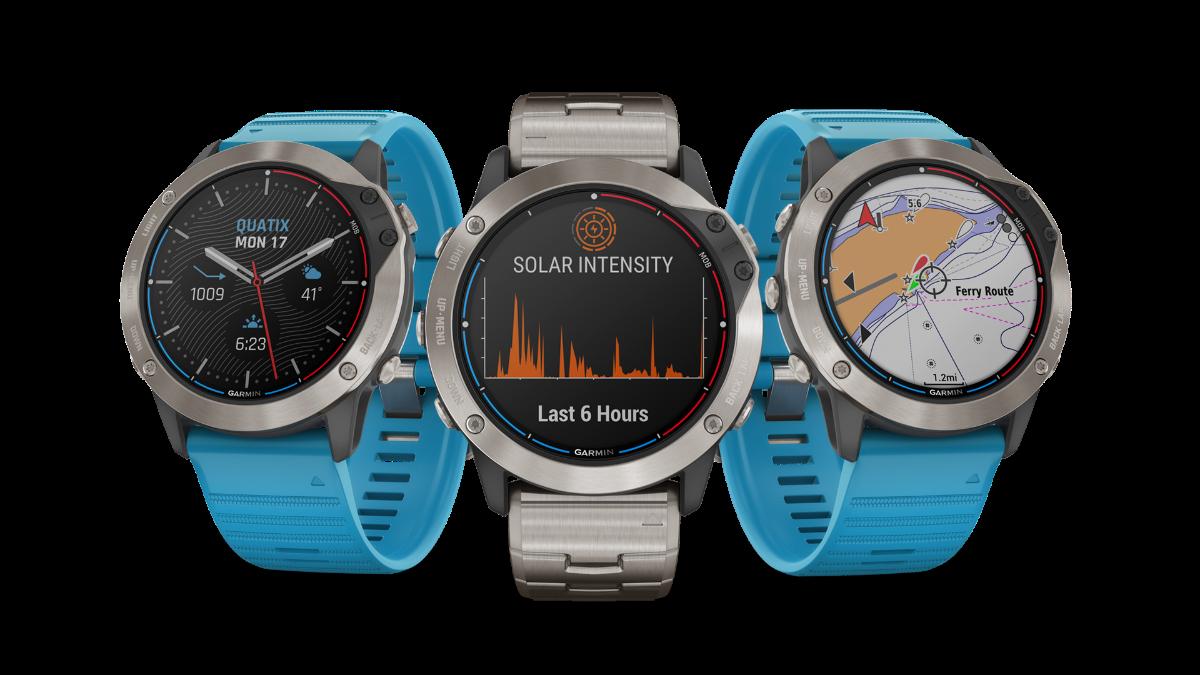 Quatix 6X Solar de Garmin, el primer reloj náutico con carga solar