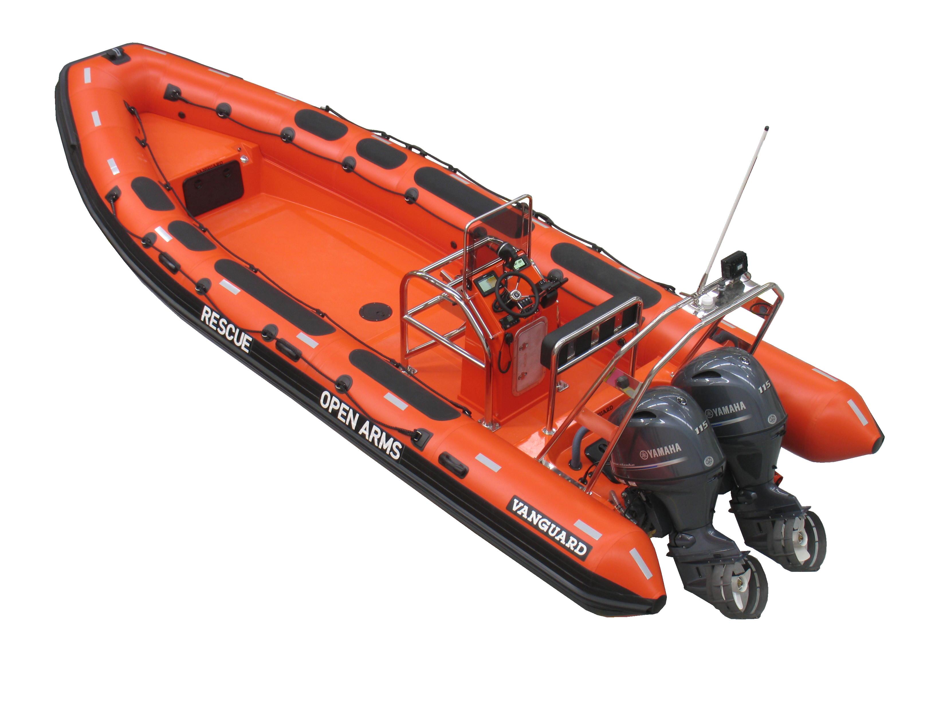 Vanguard entrega una nueva embarcación de rescate a Open Arms