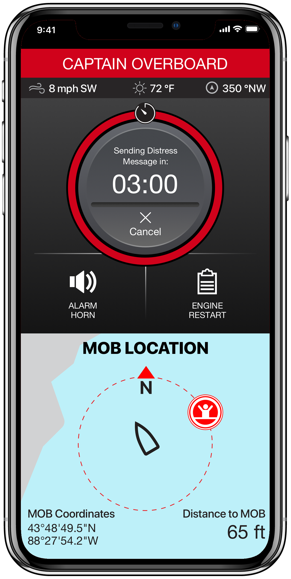 Lanzamiento de la aplicación de Android para el dispositivo de seguridad y protección 1st Mate para motores Mercury SmartCraft
