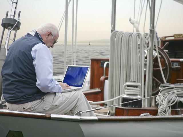 Teletrabajo en el barco