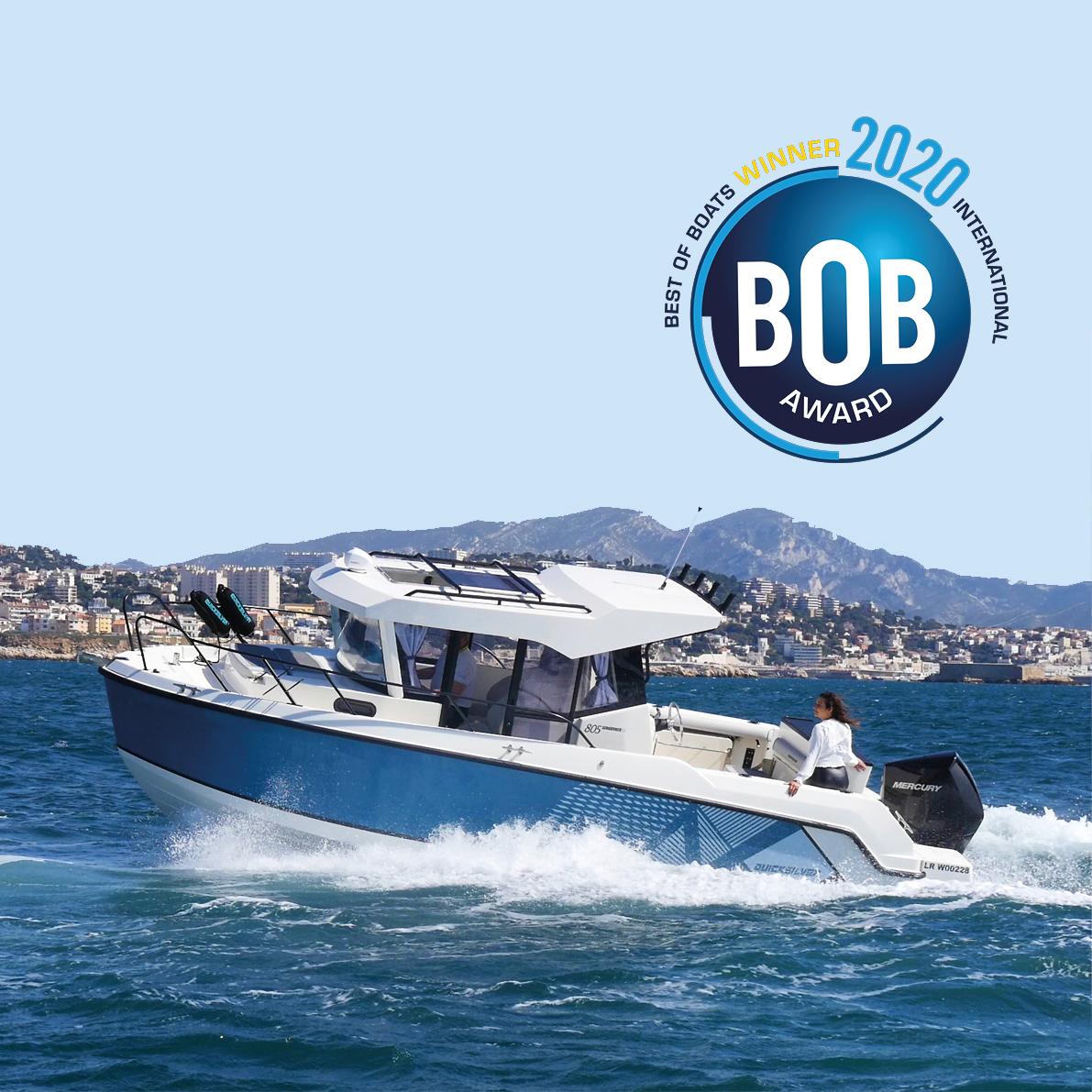 La Quicksilver Captur 805 Pilothouse gana el premio al Barco del Año