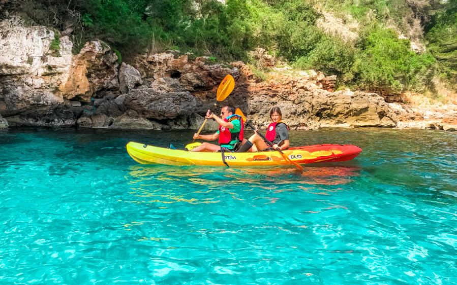kayak de Menorca