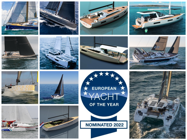 European Yacht of the Year 2022, 25 candidatos a estrella